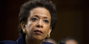 UNITED STATES - JANUARY 28: U.S. Attorney General nominee Loretta Lynch testifies during her confirmation hearing in the Senate Judiciary Committee on Wednesday, Jan. 28, 2015. (Photo By Bill Clark/CQ Roll Call)