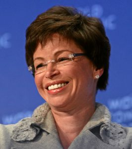 DAVOS-KLOSTERS/SWITZERLAND, 29JAN09 - Valerie B. Jarrett, Assistant to the President for Intergovernmental Relations and Public Liaison, Office of the President of the United States, captured during the session 'Special Session: The New US Age' at the Annual Meeting 2009 of the World Economic Forum in Davos, Switzerland, January 29, 2009. Copyright by World Economic Forum swiss-image.ch/Photo by Monika Flueckiger