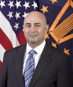 Vahid Majidi, deputy assistant secretary of defense for nuclear matters, poses for an official photo at the Pentagon portrait studio in Washington D.C., March 26, 2014. (U.S. Army photo by Eboni L. Everson-Myart/Not Reviewed)