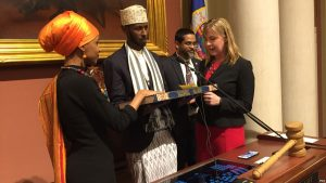 U.S. Representative Ilhan Omar (MN Democrat) who took over Keith Ellison's House seat, swore her Oath of Office on the Koran