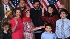 U.S. Representative Rashida Tlaib (MI Democrat) swore her Oath of Office on the Koran.